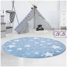 """Apvalus kilimas vaikų kambariui """"Melsvos žvaigždutės"""""""