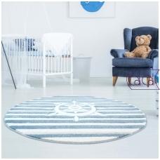 """Apvalus kilimas vaikų kambariui """"Šturvalas"""""""