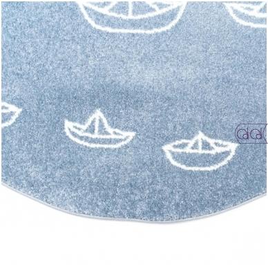 """Apvalus kilimas vaikų kambariui """"Laiveliai"""" 2"""