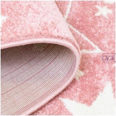 """Apvalus kilimas vaikų kambariui """"Rožinės žvaigždutės"""" 2"""