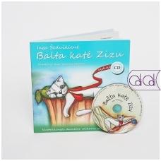 """Dainų knygelė su CD """"Balta katė Zizu"""""""