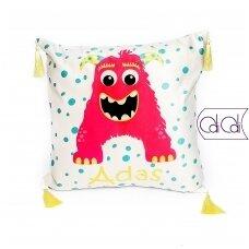 """Dekoratyvinė pagalvėlė """"Monstriukas Ajaja"""""""