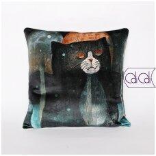 """Dekoratyvinė pagalvėlė """"Sapnuojantis katinas"""""""