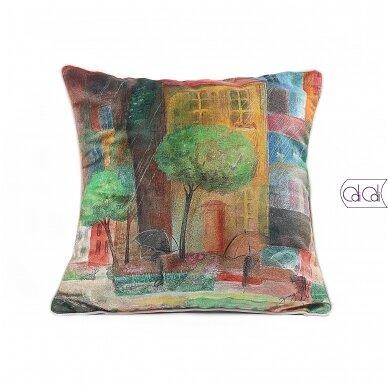 """Dekoratyvinė pagalvėlė """"Miestas"""""""