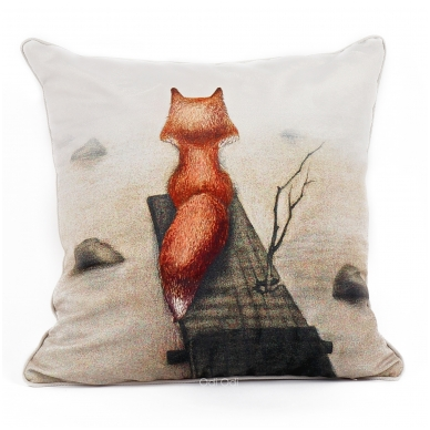 """Dekoratyvinė pagalvėlė """"Lapė mėgsta tylą"""""""