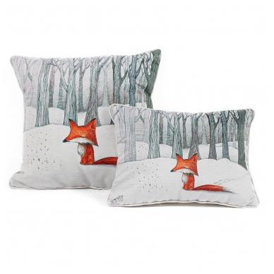 """Dekoratyvinė pagalvėlė """"Lapė miške"""" 2"""