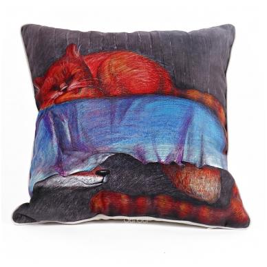 """Dekoratyvinė pagalvėlė """"Lapė po lova"""""""