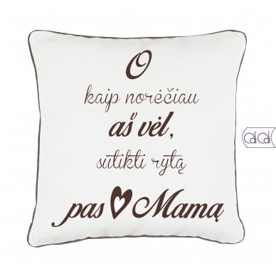 """Dekoratyvinė pagalvėlė """"Rytas pas mamą"""""""