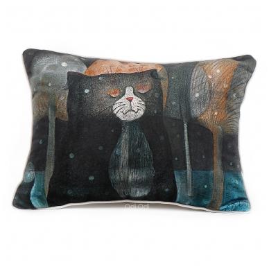 """Dekoratyvinė pagalvėlė """"Sapnuojantis katinas"""" 2"""