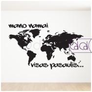 """Lipdukas žemėlapis """"Pasaulis mano namai"""""""