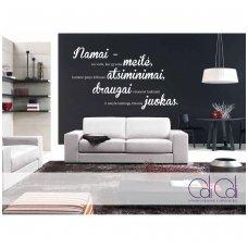 """Sienos lipdukas """"Namai – tai vieta, kur…"""" horizontalus"""