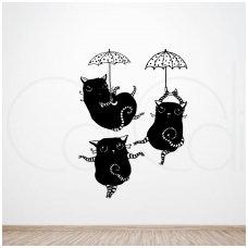 "Sienos lipdukai ""Šokantys katinai"""