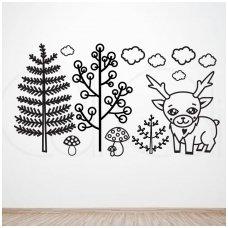 """Lipdukų ant sienos rinkinys """"Šiaurietis elnias"""""""