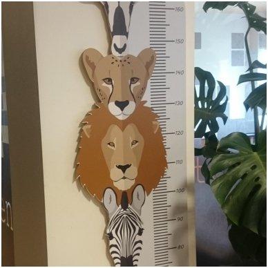 """Medinė ūgio matuoklė """"Safaris"""" 2"""