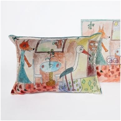 Personalizuota, pailga pagalvėlė su vaikų piešiniais 2