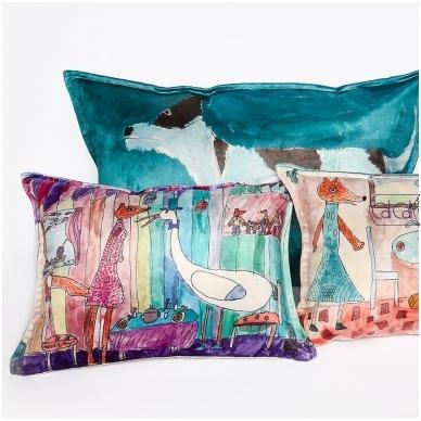 Personalizuota, pailga pagalvėlė su vaikų piešiniais 3