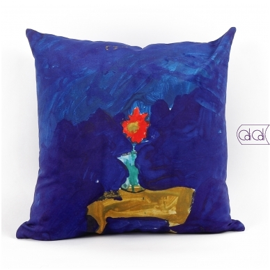 Personalizuota, kvadratinė pagalvėlė su vaikų piešiniais 2