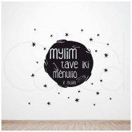 """Lipdukas vaikų kambariui """"Mylim iki mėnulio"""""""