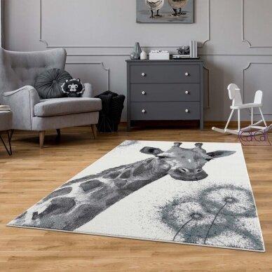 """Stačiakampis kilimas vaikų kambariui """"Žirafa"""" 2"""