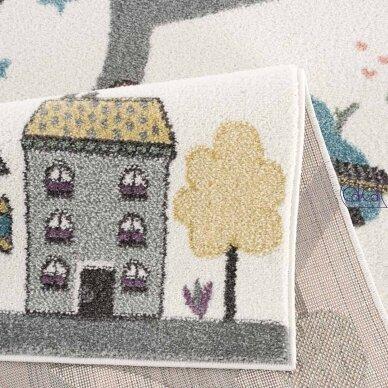 """Stačiakampis kilimas vaikų kambariui """"Miestelis"""" 2"""