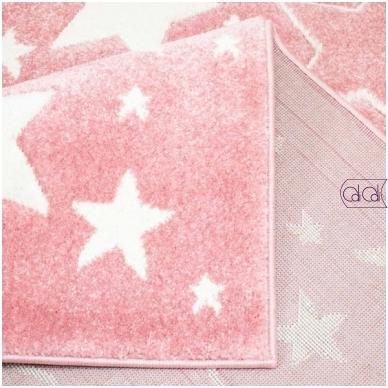 """Stačiakampis kilimas vaikų kambariui """"Rožinės žvaigždutės"""" 2"""