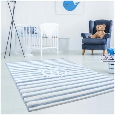 """Stačiakampis kilimas vaikų kambariui """"Šturvalas"""""""