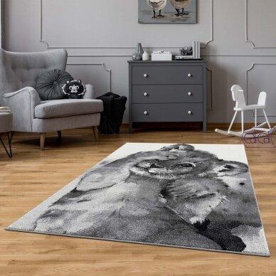 """Stačiakampis kilimas vaikų kambariui """"Liūtukas"""" 2"""