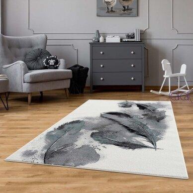 """Stačiakampis kilimas vaikų kambariui """"Plunksnos"""" 2"""