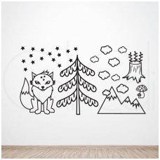 """Lipdukų ant sienos rinkinys """"Šiaurietis lapinas"""""""