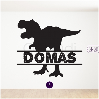 """Vardo lipdukas """"Dinozauras"""" 6"""