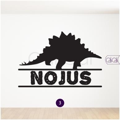 """Vardo lipdukas """"Dinozauras"""" 4"""