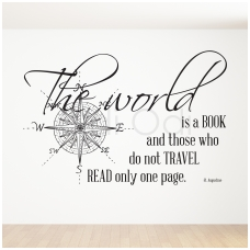 "Wall decal ""The world is a book"""