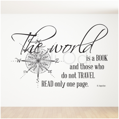 """Wall decal """"The world is a book"""""""