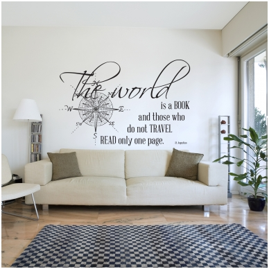 """Wall decal """"The world is a book"""" 2"""